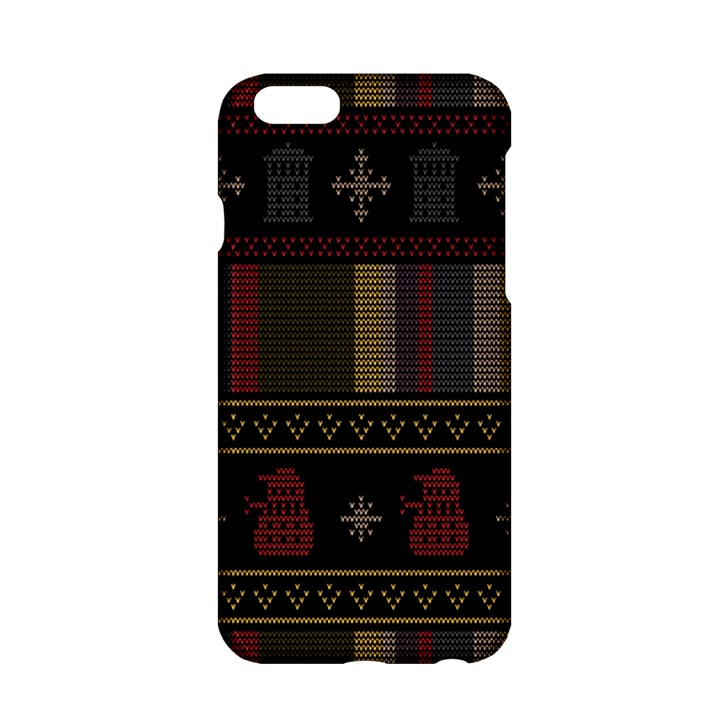 Tardis Doctor Who Ugly Holiday Apple iPhone 6/6S Hardshell Case