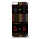 Tardis Doctor Who Ugly Holiday Apple iPhone 6 Plus/6S Plus Enamel White Case Front