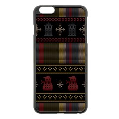 Tardis Doctor Who Ugly Holiday Apple iPhone 6 Plus/6S Plus Black Enamel Case