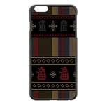 Tardis Doctor Who Ugly Holiday Apple iPhone 6 Plus/6S Plus Black Enamel Case Front