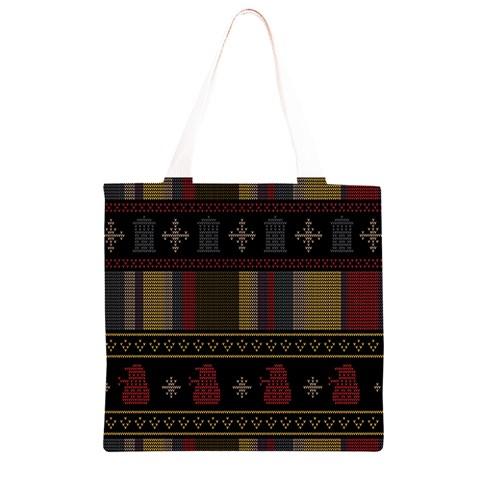 Tardis Doctor Who Ugly Holiday Grocery Light Tote Bag
