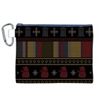 Tardis Doctor Who Ugly Holiday Canvas Cosmetic Bag (XL) Front