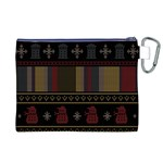 Tardis Doctor Who Ugly Holiday Canvas Cosmetic Bag (XL) Back