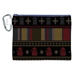 Tardis Doctor Who Ugly Holiday Canvas Cosmetic Bag (XXL) Front