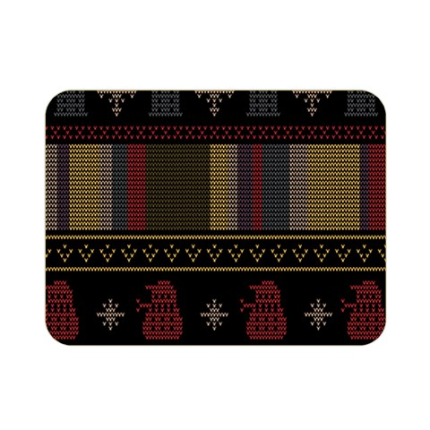 Tardis Doctor Who Ugly Holiday Double Sided Flano Blanket (Mini)