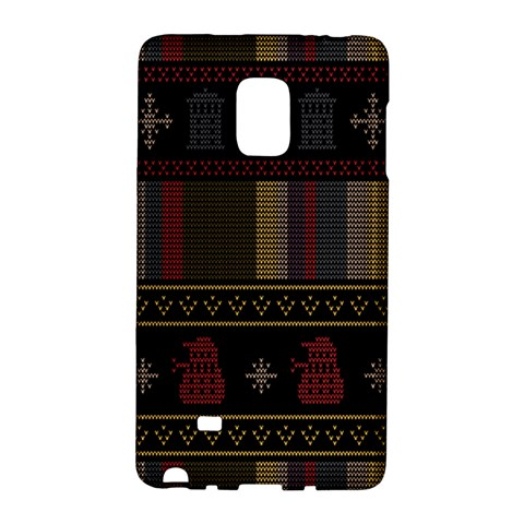 Tardis Doctor Who Ugly Holiday Galaxy Note Edge