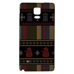 Tardis Doctor Who Ugly Holiday Galaxy Note 4 Back Case Front