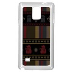 Tardis Doctor Who Ugly Holiday Samsung Galaxy Note 4 Case (White) Front