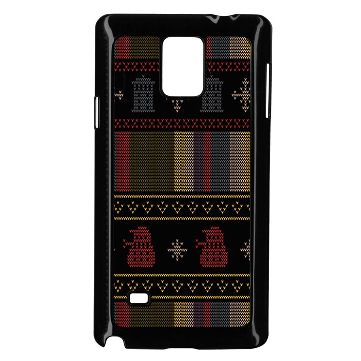 Tardis Doctor Who Ugly Holiday Samsung Galaxy Note 4 Case (Black)