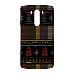 Tardis Doctor Who Ugly Holiday LG G3 Back Case