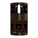 Tardis Doctor Who Ugly Holiday LG G3 Back Case Front