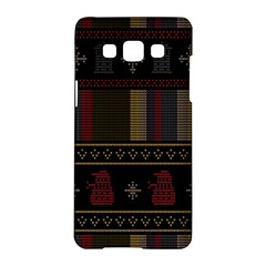 Tardis Doctor Who Ugly Holiday Samsung Galaxy A5 Hardshell Case