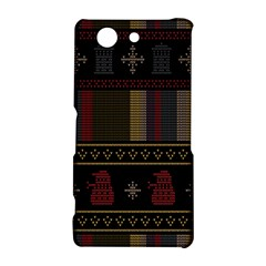 Tardis Doctor Who Ugly Holiday Sony Xperia Z3 Compact