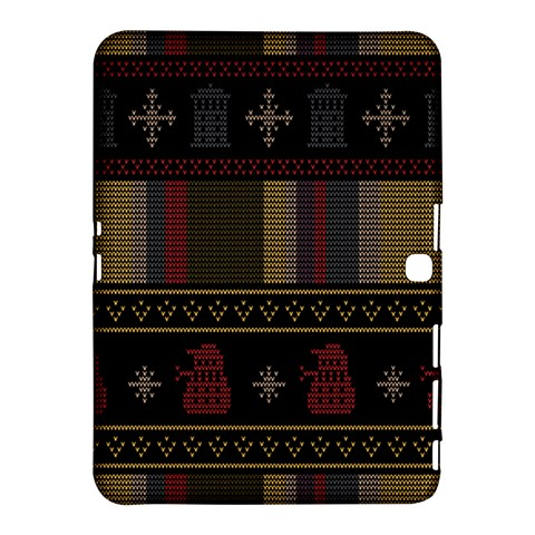 Tardis Doctor Who Ugly Holiday Samsung Galaxy Tab 4 (10.1 ) Hardshell Case