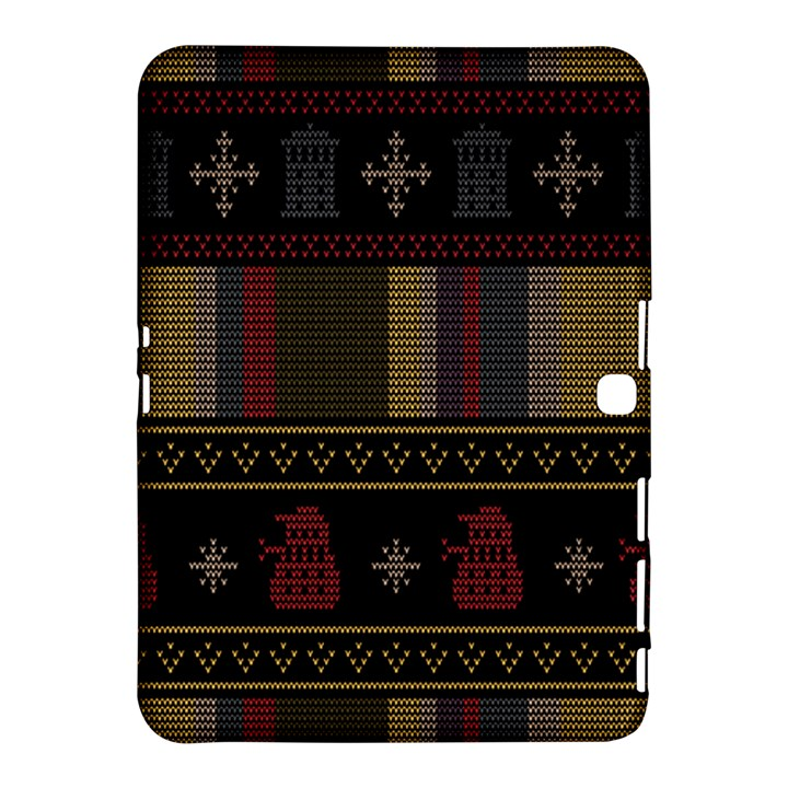 Tardis Doctor Who Ugly Holiday Samsung Galaxy Tab 4 (10.1 ) Hardshell Case