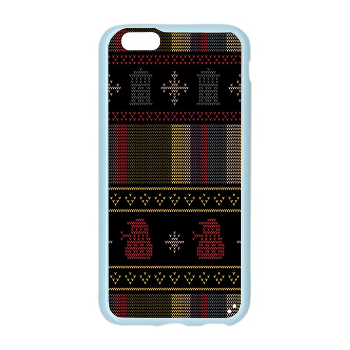 Tardis Doctor Who Ugly Holiday Apple Seamless iPhone 6/6S Case (Color)
