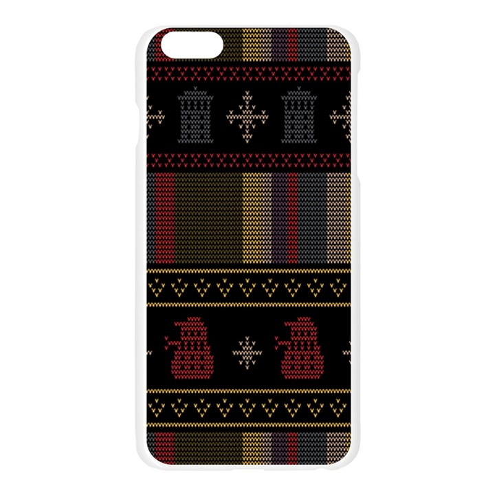 Tardis Doctor Who Ugly Holiday Apple Seamless iPhone 6 Plus/6S Plus Case (Transparent)