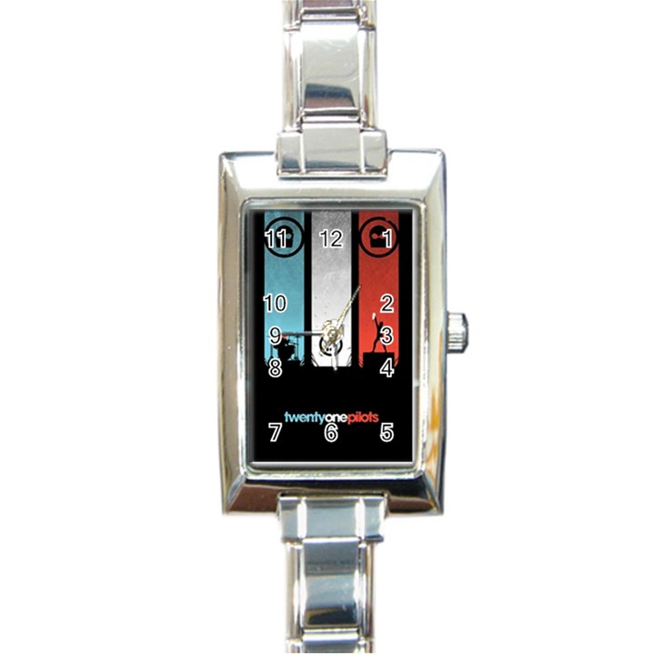 Twenty One 21 Pilots Rectangle Italian Charm Watch