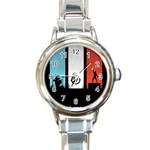 Twenty One 21 Pilots Round Italian Charm Watch Front