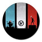 Twenty One 21 Pilots Round Mousepads Front