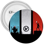 Twenty One 21 Pilots 3  Buttons Front