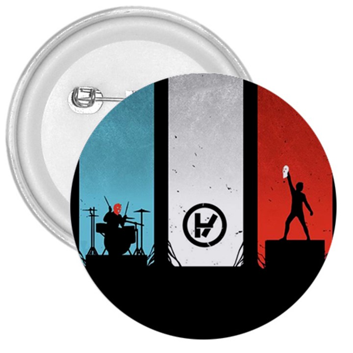 Twenty One 21 Pilots 3  Buttons