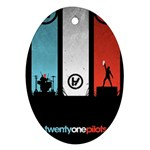 Twenty One 21 Pilots Ornament (Oval)  Front