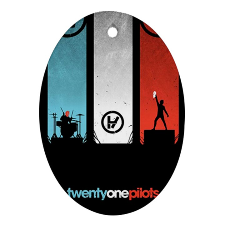 Twenty One 21 Pilots Ornament (Oval)
