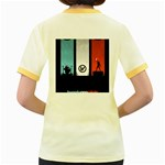 Twenty One 21 Pilots Women s Fitted Ringer T-Shirts Back