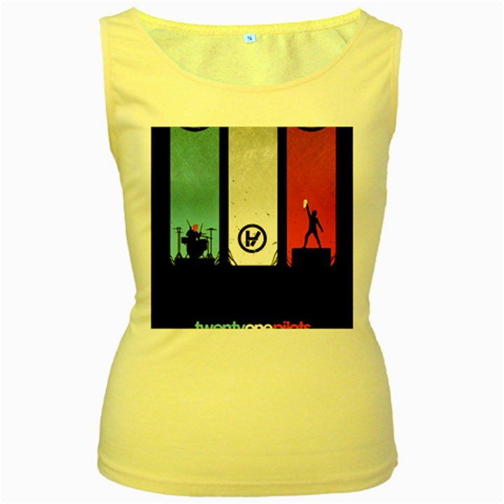 Twenty One 21 Pilots Women s Yellow Tank Top