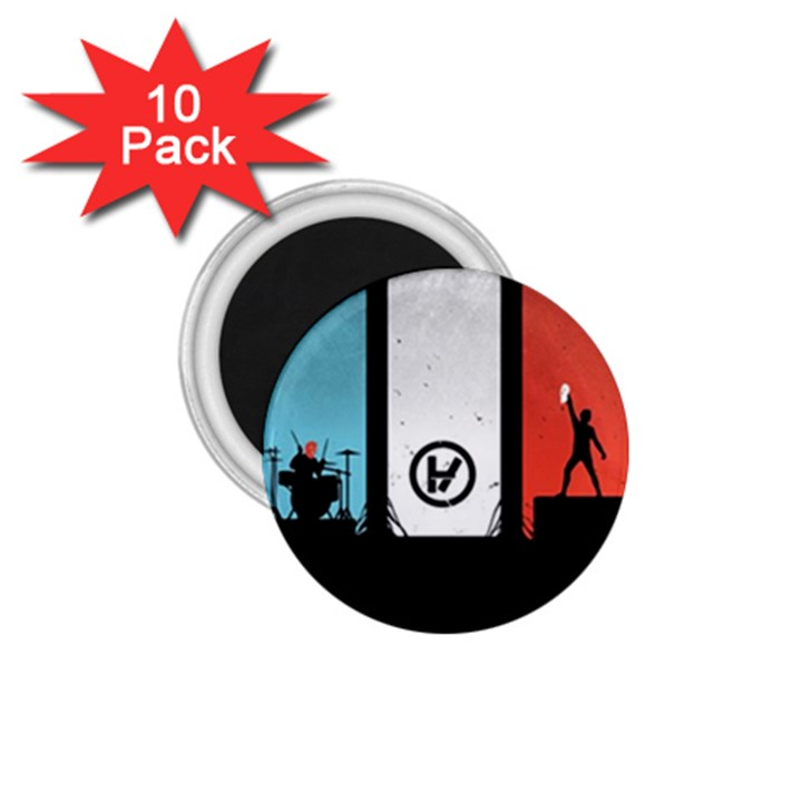 Twenty One 21 Pilots 1.75  Magnets (10 pack)