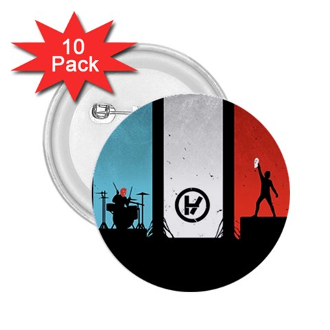 Twenty One 21 Pilots 2.25  Buttons (10 pack)