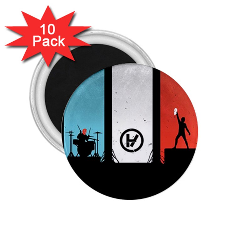 Twenty One 21 Pilots 2.25  Magnets (10 pack)