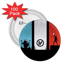 Twenty One 21 Pilots 2.25  Buttons (100 pack)