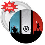 Twenty One 21 Pilots 3  Buttons (10 pack)  Front