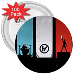 Twenty One 21 Pilots 3  Buttons (100 pack)  Front