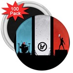 Twenty One 21 Pilots 3  Magnets (100 pack) Front