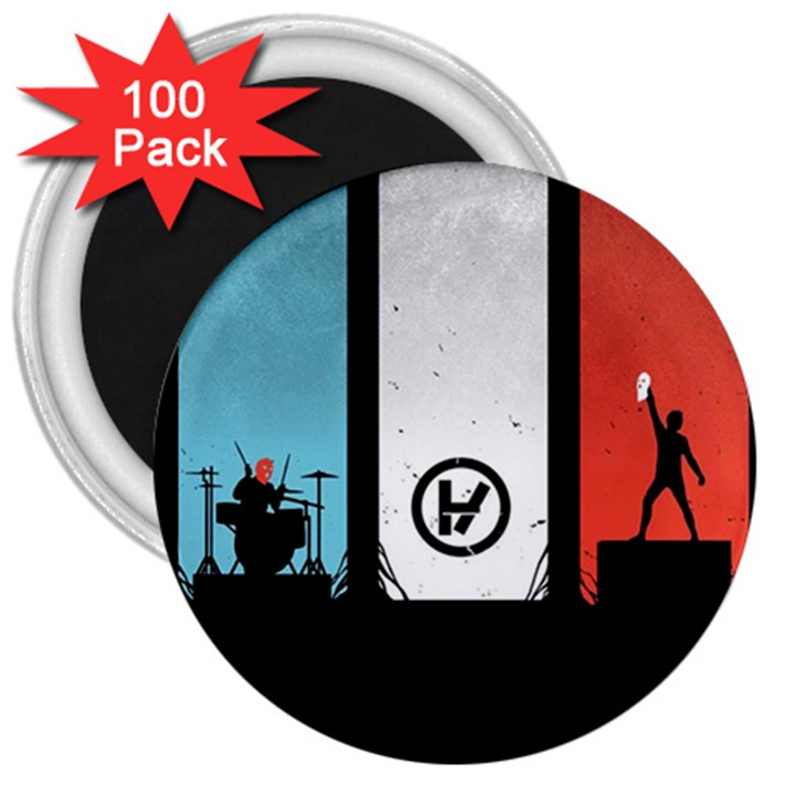 Twenty One 21 Pilots 3  Magnets (100 pack)
