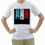 Twenty One 21 Pilots Men s T-Shirt (White) (Two Sided) Front
