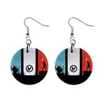 Twenty One 21 Pilots Mini Button Earrings Front
