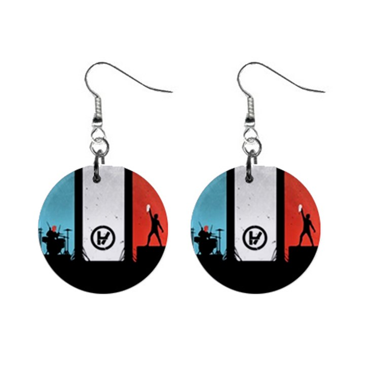 Twenty One 21 Pilots Mini Button Earrings