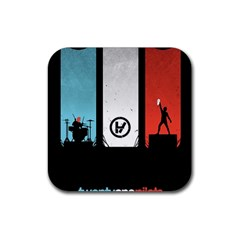 Twenty One 21 Pilots Rubber Square Coaster (4 Pack)