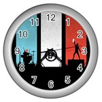 Twenty One 21 Pilots Wall Clocks (Silver)  Front