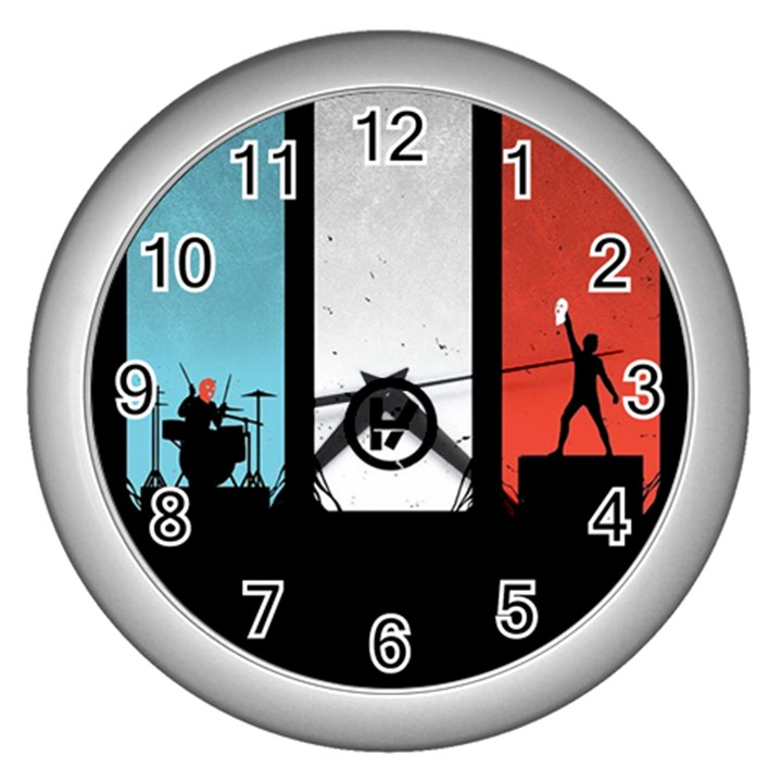 Twenty One 21 Pilots Wall Clocks (Silver)
