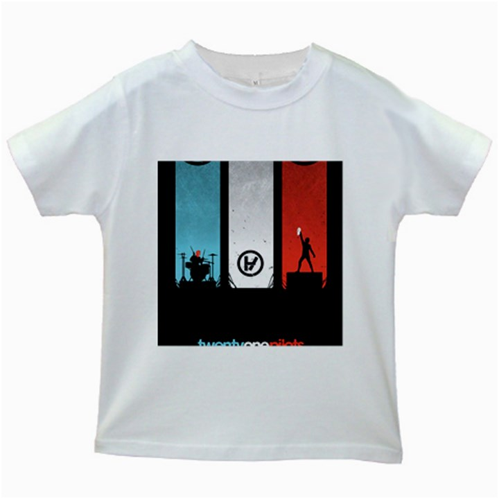 Twenty One 21 Pilots Kids White T-Shirts