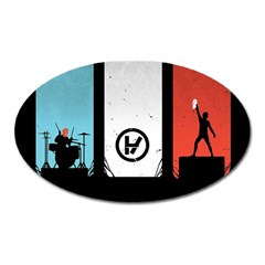 Twenty One 21 Pilots Oval Magnet