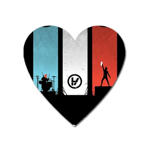 Twenty One 21 Pilots Heart Magnet