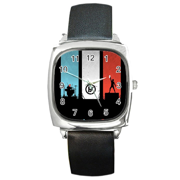 Twenty One 21 Pilots Square Metal Watch