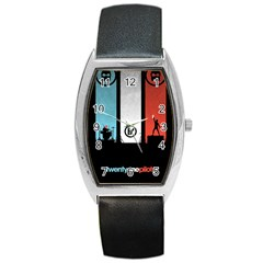 Twenty One 21 Pilots Barrel Style Metal Watch