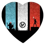 Twenty One 21 Pilots Jigsaw Puzzle (Heart) Front
